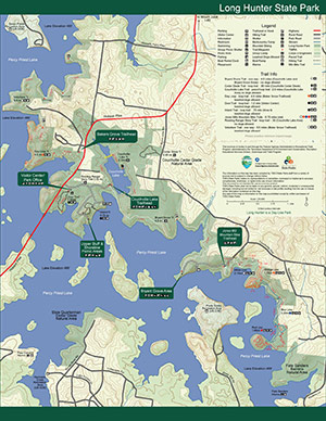 Long Hunter State Park Map